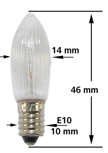 Topfkerze spitzschaftkerze riffelkerze 8v 3w f r for Lampen 8v 3w