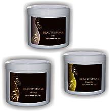 Beauty Sugar Kennenlern Set + 100 Vliesstreifen GRATIS - Zuckerpaste zur Haarentfernung - Alle drei Pasten á 500g - Kennenlernset Sugaring für den Intim Bereich, das Gesicht und den Körper - JETZT TESTEN