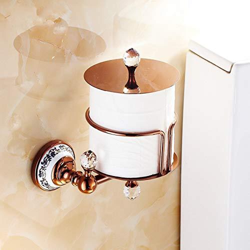 YHSGY Toilettenpapierhalter Papierhalter Euro Stil Wandmontage Kristall Messing Papier Box Rollenhalter Wc Gold Papierhalter Bad Zubehör -