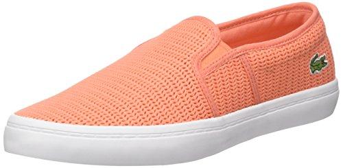 Lacoste Damen Gazon 217 2 Bässe, Orange, 37.5 EU (Krokodil-heels Womens Schuhe)