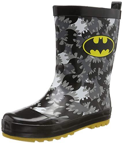 Batman Boys Kids Rainboots Boots, Botas de Agua para Niños, (Black Blk), 29 EU