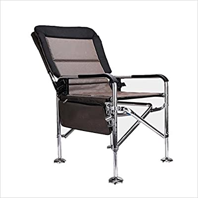 YJchairs Collapsible Chairs Fishing Chair With Accessories Bed Bag With Side Tray Carp Folding Stools With Backrest Seat Ergonomic Portable Multifunctional For A Variety Of Complex Terrain by YJchairs