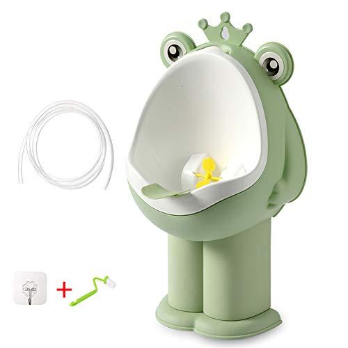 HJJGRASS Töpfchen, Tpfchen Fur Unterwegs Babytopf, Baby Pissing Junge Stehend, An Der Wand, Toilette Kind Toilette, Urinal Junge Pinkelt Artefakt,Grün,2M_Water_Pipe