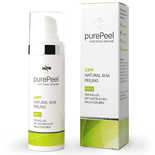 purePeel natürliches Gesichtspeeling-Gel/Natural AHA-Fruchtsäure-Peeling 25pf, 30 ml bei...