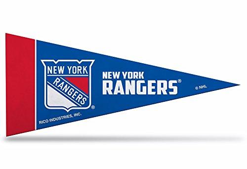 NHL 8Stück Offizielles Lizenzprodukt New York Rangers Mini Pennants, 10,2x 22,9cm