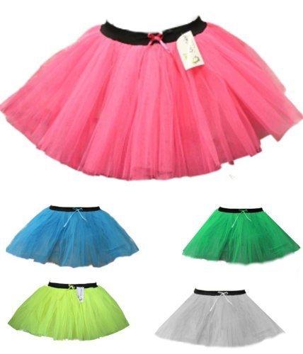 Womens XL 3-Layer Neon Dance Hen Party Fancy Dress Costume TUTU Skirt XL 14-18 NEON BLACK SIZE UK 14-18 by NA