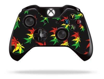 weed-leaf-xbox-one-remote-controller-gamepad-skin-cover-vinyl-xb1r36