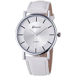 WINWINTOM Retro Dial Leather Wrist Watch White