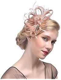 DUUMY Femmes 2017 nouveau fil de plumes coiffe de mariée avec des pinces à cheveux fleur de forage accessoires pour cheveux faits à la main des bijoux de mariage