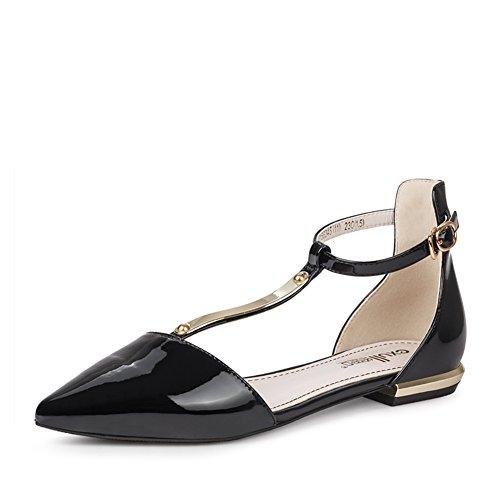 chaussures de printemps avec creux/chaussures pointues et loisirs/T-boucle matériau à faible chaussures B