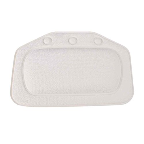 Top-box Mit Rückenlehne (uctop Store Haushalt bequemen rutschfesten Badezimmer Badewanne Kissen Kopfstütze Hals Soft Kopfkissen mit Saugnäpfen (weiß))