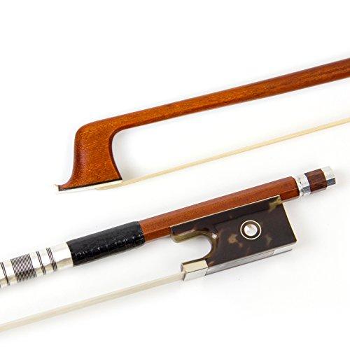 Kmise Geigenbogen Violinenbogen 4/4 Volle Größe Handgefertigt Überlegen Qualität Pernambuco Bogen für Geige Fiddle mit Mongolisch Rosshaar für Professionelle Spieler