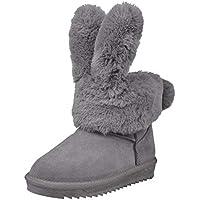 Zapatillas Botas de Nieve para Mujer, Tubo Alto De Lana de Arco Mujeres Zapatos de Invierno Calzado Interior