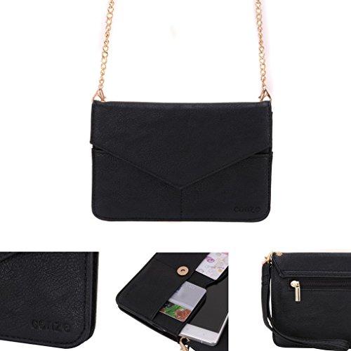 Conze da donna portafoglio tutto borsa con spallacci per Smart Phone per Lenovo Golden Warrior A8 Grigio grigio nero