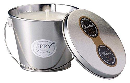 Xlear INC SPRY Kerzen Khaleesi Natürliches Wachs, die Sie Kerze in Glas Container Topf mit Silber Deckel -