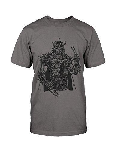 Shredder Punk T-Shirt Neu Fun Punk Oi HC Old School Patches Lustig Grunge Satire Grau