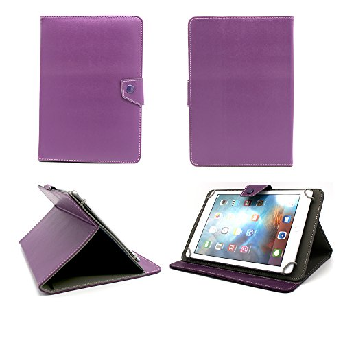 Universal tablet PC tasche 10 zoll Ultra Slim Leder Style Xeptio Violet/Lila/Purple mit Ständer - Tasche Hülle Schutzhülle Case Cover Tablet 9.2 9.4 9.7 10 10.1 10.2 zoll für Asus Google Nexus 10, Samsung Galaxy Note 10.1 N8000 / N8010 / Edition 2014 - Samsung Galaxy Tab 2 P5110 / P5100 - Galaxy Tab 3 10.1 wifi + 3g P5200 - Galaxy Tab P7510 / P7500 - Apple iPad 2, 3 und 4 Retina - iPad Air 3G/4G/LTE Intenso Tab 1004 - Superpad - Captiva Pad 10 - Odys Noon / Cosmo / Iron / Leos 10 - Easypix EasyPad 970/1370 - Acer iconia A3-A10 - Tab A510 / A511 / A700 / A701 / A210 / A211 / W510 - Coby Kyros MID1125/MID1126 - Medion Lifetab S9714 / E10311 - Asus EeePad Transformer Pad TF101 / TF101G / TF300T / TF700 / TF700T - Asus MeMo Pad Full HD10 ME302 - TechniPad 10G - Siroco Tablet 10 - Ainol Novo 10 Hero - Archos 101 - Arnova 9 G2 / 10c G3 - I-ONIK TabletPC TP10.1-1500DC-metal - MEDION MD 98248 / LifeTab P9514 - neu Sony Xperia tablet Z / SGPT121 Tablet S (Zubehör XEPTIO - Violett/Lila/Purple - PU Leder)
