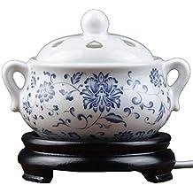 Ceramic Incense Burner Quemador de Incienso de cerámica eléctrico, Tiempo de Quemador de Aceite Esencial