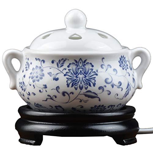 Ceramic Incense Burner Quemador de Incienso de cerámica eléctrico, Tiempo de Quemador...