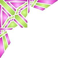 Stencil Deco Corner–(dimensioni: 21,5x 21,5cm) riutilizzabile stencil per pittura–migliore qualità Da Parete Decorazione Idee–Utilizzare su pareti, Pavimenti, tessuti, vetro, legno, terracotta, e più...