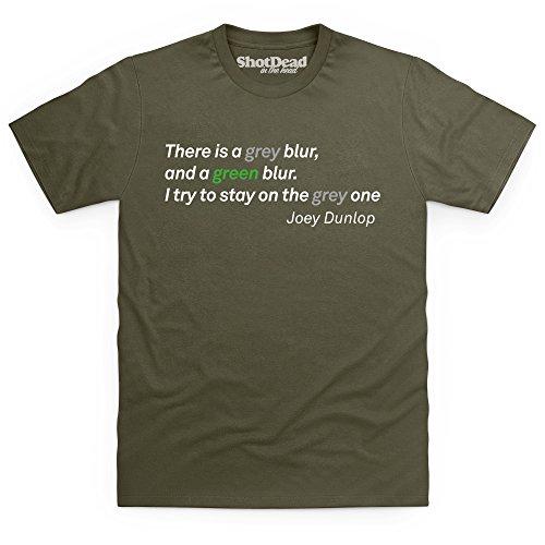 Grey Blur T-shirt, Uomo, Verde oliva, XL - Blur Oliva