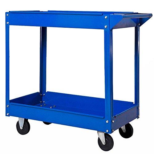 Werkstattwagen Werkzeugwagen Rollwagen 2 Etagen Montagewagen Werkstatt Blau - 3