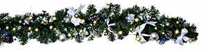 Best Season - Ghirlanda natalizia di abete a LED argento