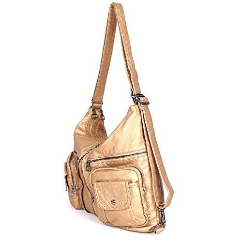 21KBARCELONA  Top con zip multi tasche Borse Lavato Borse borse in pelle zaino tracolla XS160989 Nudo