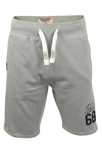 Tokyo Laundry Herren Shorts 'Beaverton' Light Grey Marl