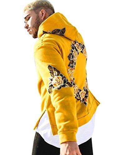 Sannysis Herren Kapuzenpullover Sweatshirt Kapuzenpulli Männer Jacke Mantel Outwear Pullover (XL, Gelb) (Liebhaber Lustig Langarm)