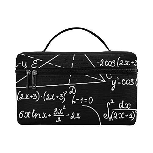 Math Education Komplizierte Mathematische Genie Große Kapazität Größe Faul Cosmetic Makeup Bag Organizer Zug Kulturbeutel Fall Für Mädchen Teen Frauen Reisen Mit Durchsichtigen Reißverschluss