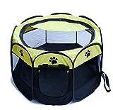 JXJL Pet Play Pen Portable Pieghevole Puppy Dog Pet Cat Coniglio Guinea Pig Box in Tessuto Gabbia Gabbia Tenda (Rosa),90x90x60CM