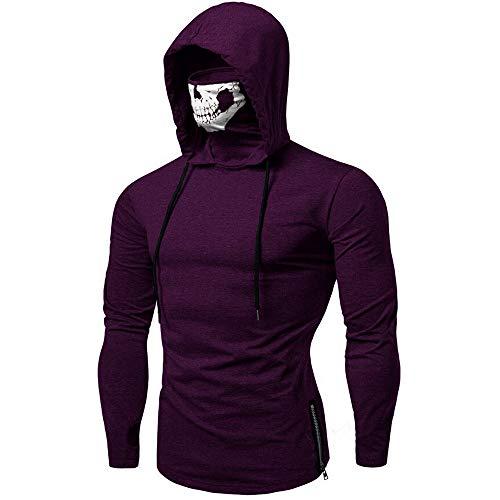 KEERADS Herren Kapuzenpullover Ninja Pullover Hoodie Sweatjacke Sweatshirt mit Reißverschluss (3XL, Violett ()