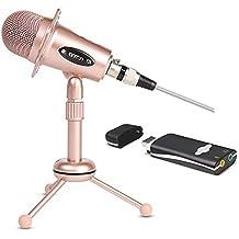 Micrófono Del Condensador, 360 ° Omnidireccional, Enchufe Del USB, Con El Trípode,