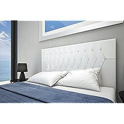 HOGAR24 Cabecero tapizado Vogue 160x60. Blanco