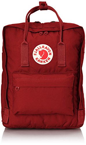 Fjallraven Backpack - Mochila de senderismo, color Rojo (Deep Red/Deep Red), talla Talla única