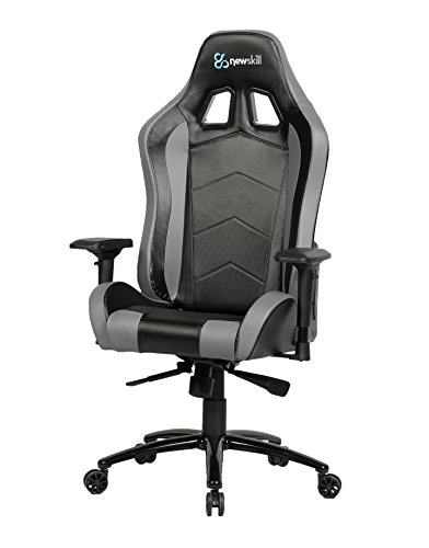 Newskill Takamikura Carbon - Silla gaming profesional (Piel efecto carbono, inclinación y altura regulable, reposabrazos ajustables, reclinable 180º), Color Gris