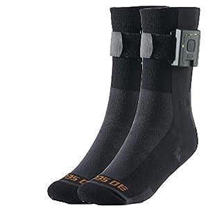 30seven beheizbare Socken mit Akku für Damen & Herren / beheizte Strümpfe in 35-46 / unisex / kurz / schwarz