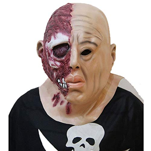 YINGZU Scary Halloween Zombie Maske Creepy Horrible Latex Biochemical Monster Maske für Männer Erwachsene Kostüm Party Requisiten