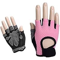 GYPO Barbecue Handschuh Frauen Fingerlose Gewichtheben Handschuhe halb Finger Gym Handschuhe für Hanteln Gewichtheben Yoga Radfahren (S) Grillen Handschuhe