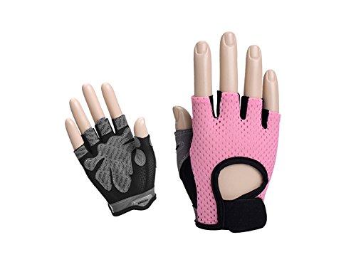 Bnasa traspirante guanti da sollevamento pesi senza dita da donna guanti da palestra mezze dita per manubri sollevamento pesi yoga ciclismo (m) per lavorare