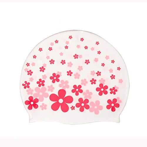 JJJ Kinder Schwimmen Hut, Schwimmen Stirnband für Kinder mit Druck niedlichen Cartoon Muster silikon wasserdicht für Kinder Kinder Jungen mädchen,D