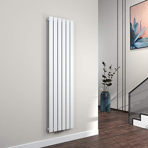 Panel Designer Heizkörper (Vertikal Heizkörper Design Paneelheizkörper 1800x460mm Weiß flach Doppellagig Mittelanschluss Heizung, 1733W)