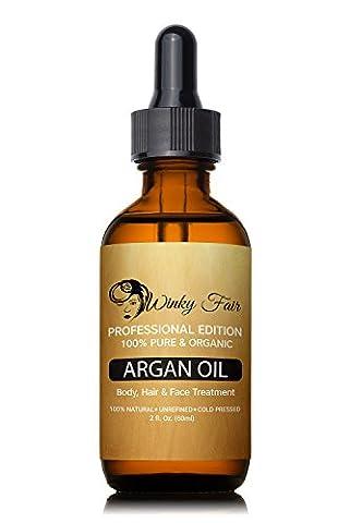 inclus Fair marocain Huile d'Argan–100% Pure Huile d'Argan Vierge Bio huiles–Pressée à froid et non raffiné