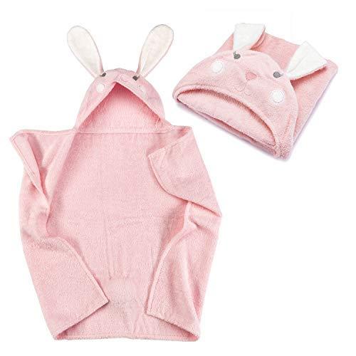 all Kids united Baby Kapuzenhandtuch Kapuzentuch aus 100% Frottee Baumwolle - Baby-Badetuch mit Kapuze - Öko-Tex 100; Hase