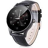 Excelvan K88H - Smartwatch Pulsera Inteligente para Móvil Android IOS (Ritmo Cardíaco, Monitor del Sueño, Podómetro Calorías, Recordatorio de la Llamada / SMS, Recordatorio Sedentario)(negro)