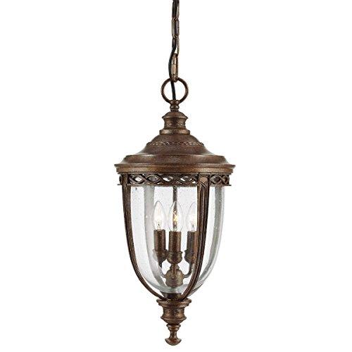 Design-Pendelleuchte 3-flammig English Bridle Farbe: Britische Bronze (Beleuchtung Stores British Home)