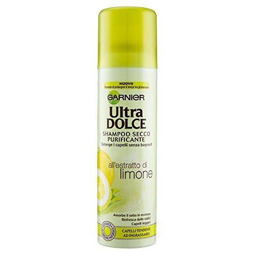 Garnier Ultra Dolce all' Estratto di Limone Shampoo Secco per Capelli Tendenti ad Ingrassarsi, 150 ml