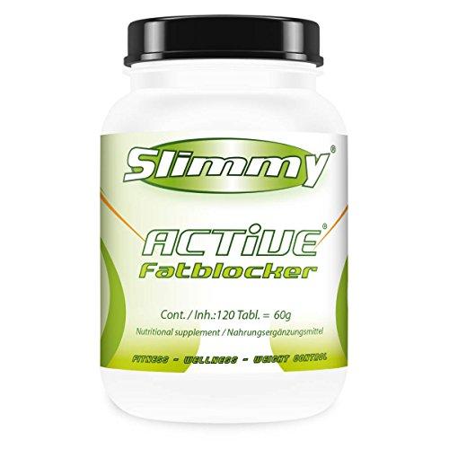 SLIMMY® - Eiweiß-Diät - SLIMMY® ACTIVE® Fatblocker – 120 Caps. (Beine Hoch Bleiben)