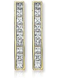 Carissima Gold Damen-Ohrringe 375 9 Karat (375) Gelbgold  Zirkonia